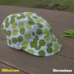 画像2: 手ぬぐい サイクルキャップ 緑茶玉